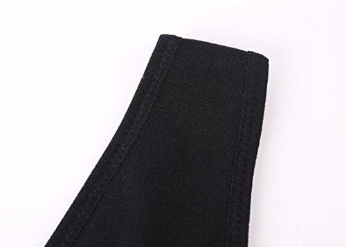 Topwhere® Damen Drahtlos BH Krankenpflege -Behälter -Schlaf-BH für Mutterschaft and UnterwäSche (XL/38B,38C,38D, Black) Black
