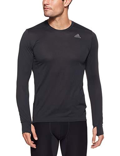 Herren Supernova Long Sleeve Top (adidas Herren Supernova T-Shirt, Black, M)