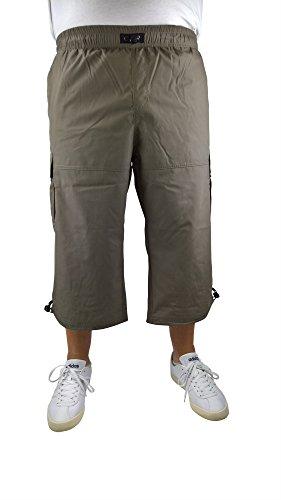 Herren Longbermuda im Cargo-Stil 60, 62, 64, 66, 68, 70, XL, XXL, 3XL, 4XL, 5XL, 6XL, Große Größen, Übergröße, Big Size, Plus Size (68, Khaki) - Reyes Shorts