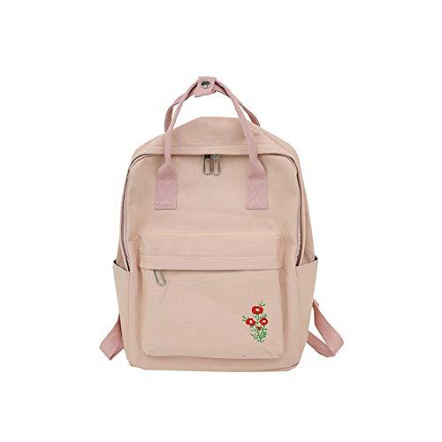 Shuda Schultasche Backpack schulranzen Schulrucksack schule Lernen Arbeit Reisen Camping Lässige Leinwand 27 * 32 * 14cm