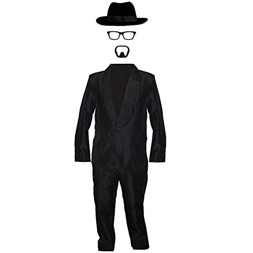ILOVEFANCYDRESS Walter White =KOSTÜM VERKLEIDUNG=Fasching Karneval=4 VERSCHIEDENEN GRÖSSEN = DER Hut IN 58cm + 60cm=Anzug+BRILLENGESTELL+Hut IN DER GRÖSSE IHRER Wahl+ BART=MEDIUM+HUT-58cm