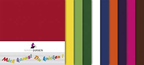 MarpaJansen Faltblätter - Origmaipapier - Transparentpapier farbig - Uni - (15 x 15 cm, 100 Blatt, 42 g/m²) - weiß
