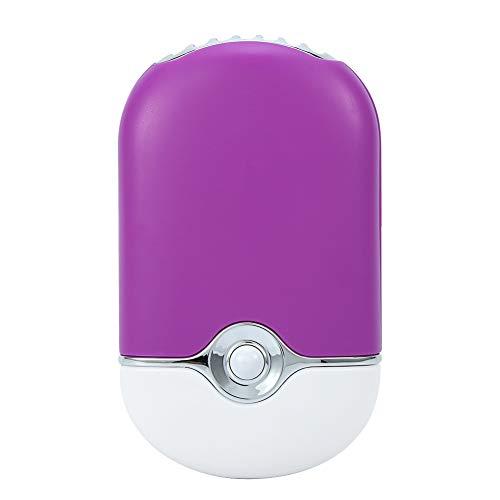 Rosvola Tragbarer USB-Lüfter, wiederaufladbare elektrische Mini-Kühlklimaanlage für trockene Wimpernverlängerung(Lila) Mini-flan