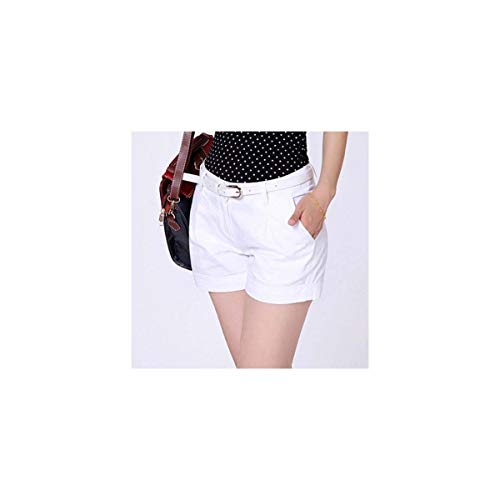 Korea Style Summer Woman Casual Shorts Plus Size S-2xl Design Lady Casual Short Solid Color Khaki/White Kh804247 White S -