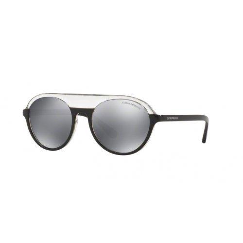 Emporio Armani Unisex-Erwachsene Earmani 4067 Sonnenbrille, Mehrfarbig (Transparent Black Grey), 54