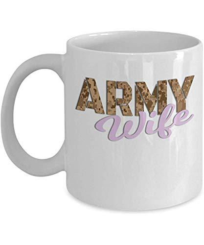 Armee Kaffeetasse - Frau - Geschenk für Soldaten - 11 Unzen Keramik Tasse