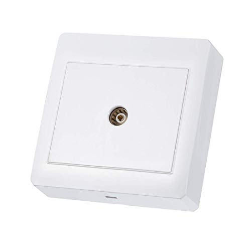 ZCHXD Surface Mount 86 Type TV Wall Plate Single Gang Coaxial Aerial Outlet Panel Electronic-outlet-panel