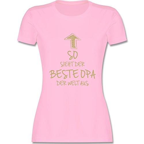 Geburtstag - So sieht der beste Opa der Welt aus - tailliertes Premium T-Shirt mit Rundhalsausschnitt für Damen Rosa
