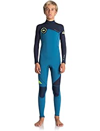 Quiksilver 3/2mm Syncro Series Traje de Surf, Niños, Azul (Marina / Blue Nights / Safety Ye), 10