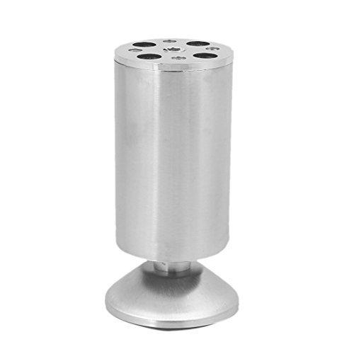 Deal Mux Meubles Table Lit 120 mm Hauteur Métal Ronde sol Cabinet jambes réglable Pieds