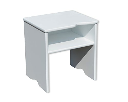 Room studio comodino sgabello 2 in 1 legno bianco 29 x 21 x 31 cm