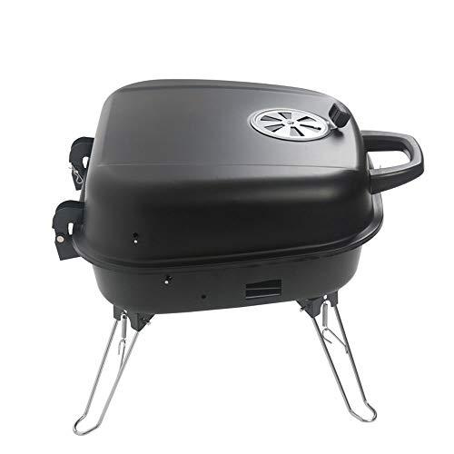 Az za griglia da tavolo portatile per barbecue a carbonella con quattro gambe pieghevoli, utensili da barbecue, forno da esterno in legno per famiglie, forno a carbonella