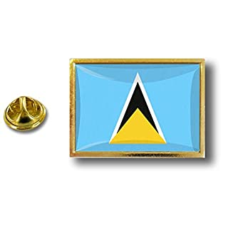 Akacha pins pin's Flag National Badge Metal Lapel Backpack hat Button Vest Saint Lucia