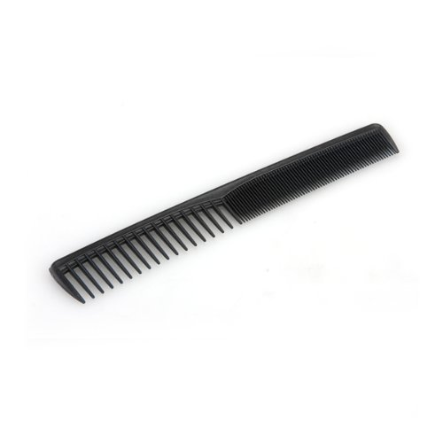 Peine Peluquería Alto Brillo Fibra Carbono 18,2x3cm Negro