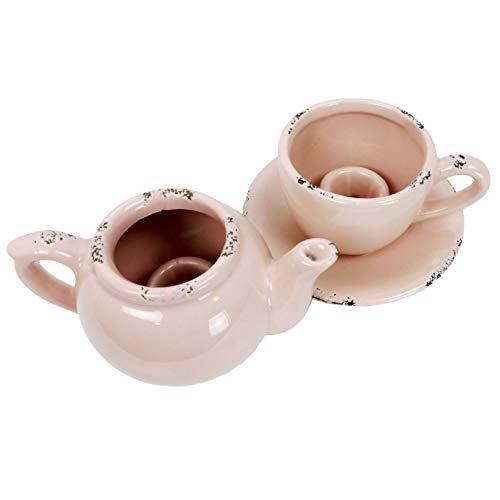 31jqUHDm0FL - Kanne und Tasse als Kerzenhalter rosa
