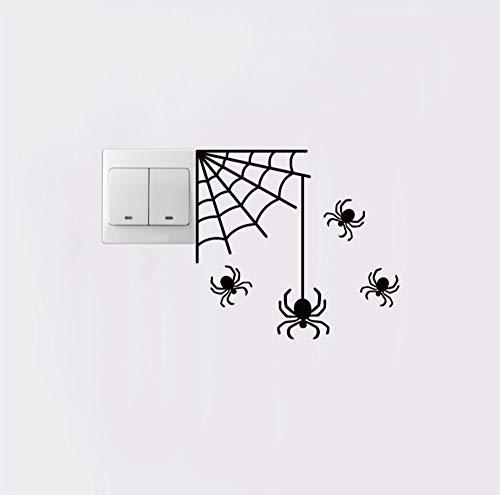 TNIEG Schalter Aufkleber PVC Vinyl gruselig spinne mesh Papier Halloween Party Dekoration wandaufkleber 17,2 cm * 16 cm