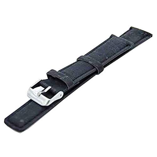 Naturkork-Armband, schwarzes Uhrenarmband Rustikalkork mit Pu-Leder, handgefertigt vegan Hochwertig, umweltfreundlich Wasserdichtes Wachs Nachhaltiges Kork-Armband (Schwarz-22MM) E-004 -(eCorcho) -