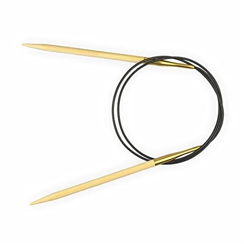 Creleo 792132 Rundnadel Bambus, Länge 80 cm, Stärke 7 mm