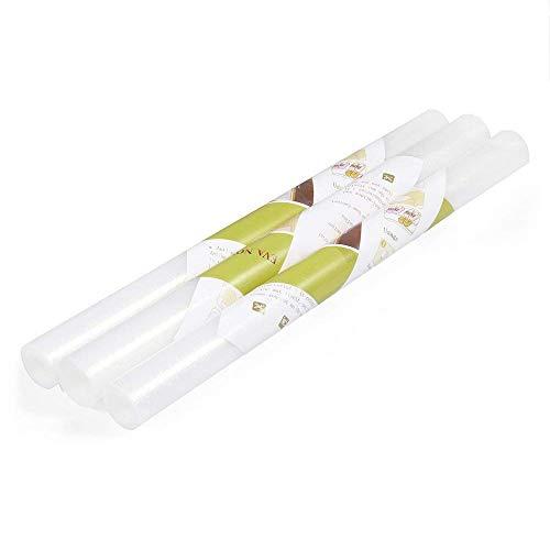 Amorus Schubladenmatte, 3 Pcs DIY Waschbare Wasserdichte Antirutschmatte, Antimehltau...
