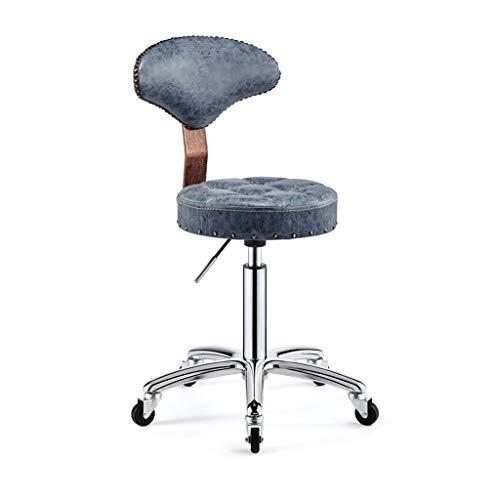 Qi Peng- Beauty Chair Bar Chair Stuhl Front Chair Drehbarer Bar Chair Lift Barhocker Friseurhocker Mit Rückenlehne Barhocker (Farbe : A)