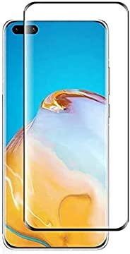 Al-HuTrusHi Huawei P40 Pro Screen Protector,HD Clear 3D [3D Curved] [Full Glue] [Full Coverage] Anti-Scratch A