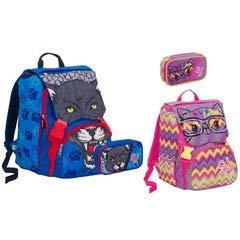 Zaino scuola Seven sdoppiabile con astuccio schoolpack sj wild fashion 2018, colori assortiti
