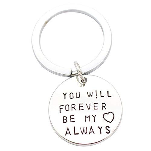Sevenfly Legierungs Beschriftung Sie Werden für Immer Mein Immer Sein Halskette Schlüsselbund Hochzeit Engagement Bridal Shower Geschenk, Keychain (Shower Bridal Ein Für Geschenke)