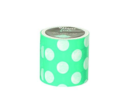 Heidi Swapp Marquee Tape Washi Cinta Adhesiva Lunares de Azules, Papel de Arroz, Turquesa, 2x2x2 Inches