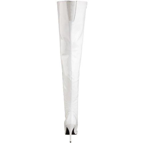 Pleaser - Seduce-3010, Stivali da donna Wht Pat