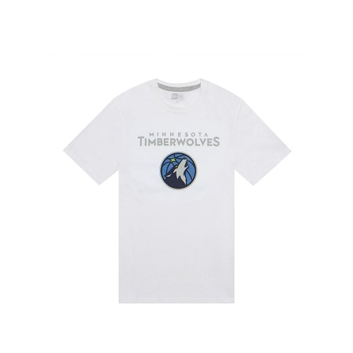 New Era Minnesota Timberwolves Team Logo NBA T-Shirt Weiß, M (Minnesota Timberwolves Hat)