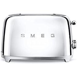Smeg TSF01SSEU Grille-pain, 950 W, Argenté