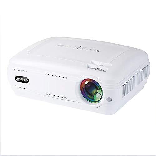 ZUZEN Projektor Portable Home Theater LED HD 1080P Support PC, USB, Apple, TV Box, Xbox360, SD Card PS4 Laptop,White