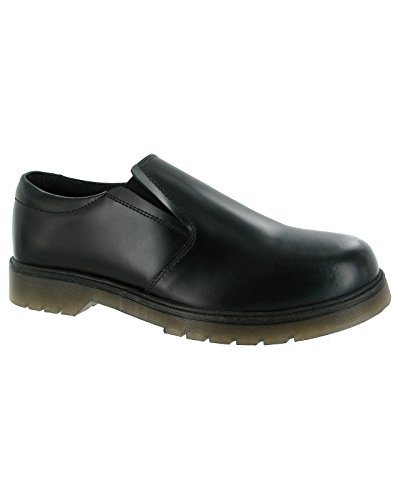 Amblers Mens Boston Slip On Leather Fabric Lined Shoe Black Noir - noir