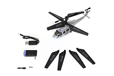 XciteRC 12003000 – Eurocopter EC 175 3.5 Channel RTF Co-Axial Helicopter with Infrared Control for Smartphone