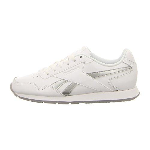 Reebok Royal Glide, Sneaker Donna Bianco (White/silver Metallic)