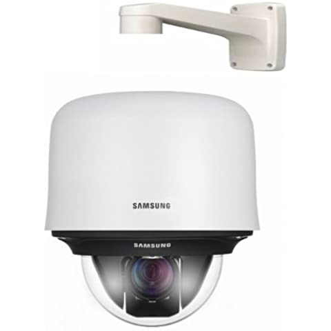 SAMSUNG SCP - 2430HP 43X ZOOM 600TVL ALTA RESOLUCIÓN cámara domo PTZ CON CALENTADOR INCORPORADO 24VAC CON PARED SOPORTE DE MONTAJE