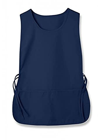 Adar Unisex Tabard (Tabbard) Apron 2 Pocket/ Adjustable Tie For Home Work Cleaning And Kitchen (Available in 36 colors) - 702 - Navy -