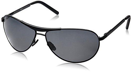 Fastrack Black Aviator Sunglasses (Black) (M062BK1) image