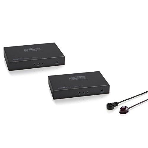 Marmitek MegaView 91 - HDMI Extender - über 1 CAT 5e/6 Kabel oder Netzwerk (IP/LAN) - Full HD - 1080P - 120m - zusätzliche Empfänger - Infrarot Rückkanal - HDMI Extender über vorhandenes Netzwerk
