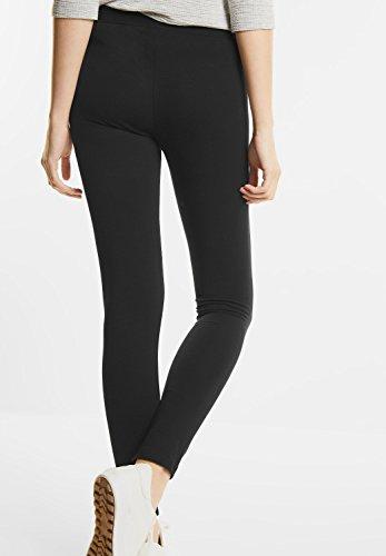 Street One Damen Lange Basic Leggings in Uni Black (Schwarz)