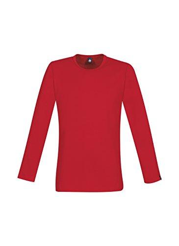 Trigema Herren Langarmshirt Rot (Kirsch 036) ...