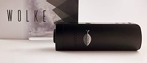Vapeble Vaporizer Wolke - Premium Verdampfer mit Glasmundstück, Metallgehäuse mit wechselbare 2600 mah Batterie, OLED Display und stufenloser Temperaturreglung - Dampf für Kräuter, Harze und Öle