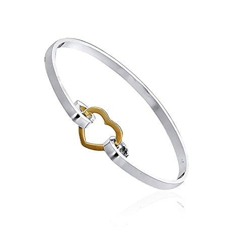 Armband Damen Fashionvictime - Versilbert-Rhodium Herz Modeschmuck Sachen Für Schwestern