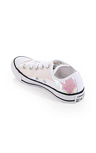 Converse Star Ox Damen Sneaker Weiß White | Metallic