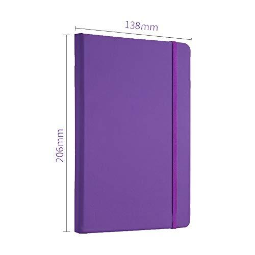 taccuino di cancelleria, creative notes, benda, ufficio di affari, di moda in pelle, questo diario a5 138mm 206 (*),violet