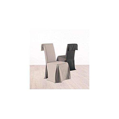 Fodera coprisedia, rivestimento per sedia - Altezza regolabile - 100% cotone - Color TORTORA