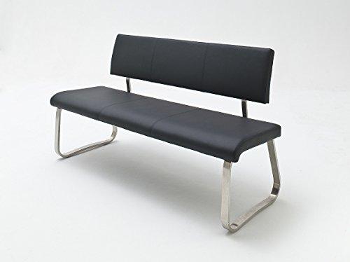 Robas Lund ARCO Sitzbank, Polyurethan; Edelstahl, B/H/T: ca. 155 x 86 x 59 cm (Sitzbank Rücken Leder Mit)