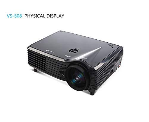 JHSHENGSHI Beamer, Projektor, Mini Beamer, 2000 Lumens Videobeamer unterstützt 1080P Full HD, Kompatibel mit TV Stick Spiel Konsole HDMI VGA SD AV und USB, Heimkino Projektor, Black
