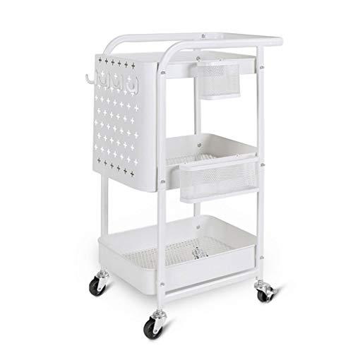 YouYou-YC Küchenregal IKEA Wagen Wohnzimmer Schlafzimmer Aufbewahrungsloch Platte Schönheitssalon Fahrbarer Wagen auf Rädern