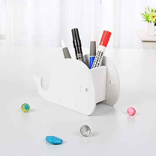 Schreibtisch Organizer Multifunktions Aufbewahrungskiste Stifthalter Schreibtischdekorationen Zum Badezimmer Büro Schreibwaren-Gadget-Halter-7x10CM-Weiß - Tier-regal Eitelkeit